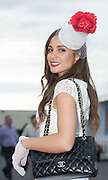 28/07/2014 Milliner Lorna Mushtaha Barna Galway at he Galway Summer Racing Festival at Ballybrit in Galway City .  Photo:Andrew Downes