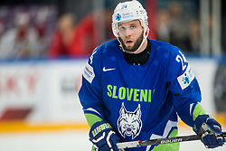Rok Ticar of Slovenia during the 2017 IIHF Men's World Championship group B Ice hockey match between National Teams of Slovenia and Belarus, on May 13, 2017 in AccorHotels Arena in Paris, France. Photo by Vid Ponikvar / Sportida