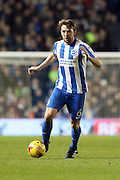 Brighton & Hove Albion central midfielder Dale Stephens (6) during the EFL Sky Bet Championship match between Brighton and Hove Albion and Newcastle United at the American Express Community Stadium, Brighton and Hove, England on 28 February 2017.