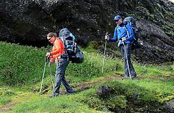 09-07-2014 ISL: Iceland Diabetes Challenge Dag 5, Emstrur<br /> Van Alftavatn naar Emstrur / Tjebbe Bosma, Sabine Woesthoff