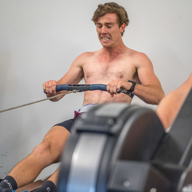 Nathan Luff, Canterbury Rowing Club<br /> <br /> SRPC squad ergometer training at HPSNZ Apollo Sports Centre, Christchurch. Tuesday 20 November 2018 © Copyright photo Steve McArthur / @RowingCelebration