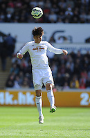 Swansea City's Ki Sung-Yueng in action during todays match  <br /> <br /> Photographer Ashley Crowden/CameraSport<br /> <br /> Football - Barclays Premiership - Swansea City v  Everton - Saturday 11th April 2015 - Liberty Stadium - Swansea<br /> <br /> © CameraSport - 43 Linden Ave. Countesthorpe. Leicester. England. LE8 5PG - Tel: +44 (0) 116 277 4147 - admin@camerasport.com - www.camerasport.com