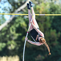 (Photograph by Bill Gerth for SVCN/5/27/16) Los Gatos Pole Vaulter Alexandra Sexton during (6th place, 11.07)  the CCS Track and Field Championships at Gilroy High School, Gilroy CA on 5/27/16.