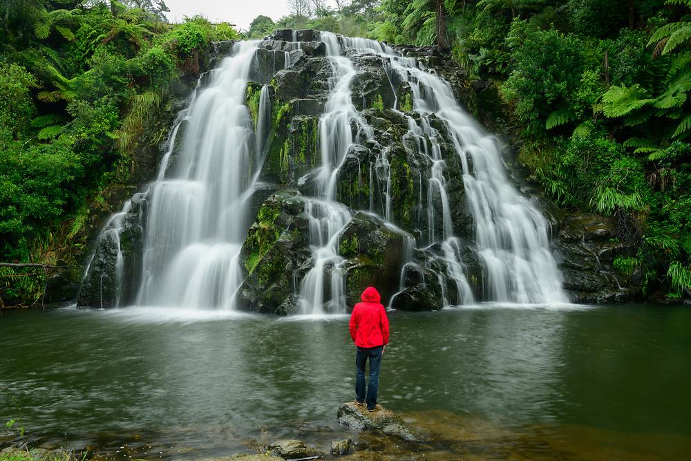 Oceania, New Zealand, Aotearoa, North Island, Owharoa Falls,  Waikino
