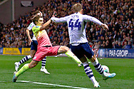 Preston North End midfielder Brad Potts clears away the ball during the EFL Cup match between Preston North End and Manchester City at Deepdale, Preston, England on 24 September 2019.