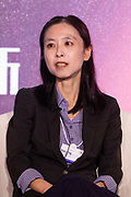 Qian Jing, Vice-President, Global Marketing, JinkoSolar, People's Republic of China during the session: China's Bay Area Economy at the World Economic Forum - Annual Meeting of the New Champions in Tianjin, People's Republic of China 2018.Copyright by World Economic Forum / Greg Beadle
