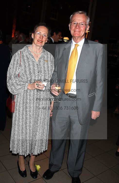 SIR HAROLD & LADY WALKER he is the former UK ambassador to Iraq at the opening of the exhibition 'Lawrence of Arabia: The Life, The Legend' at the Imperial War Museum, Lambeth Road, London SE1 on 11th October 2005.<br /><br />NON EXCLUSIVE - WORLD RIGHTS