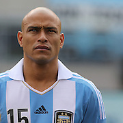 Clemente Rodriguez, Argentina, during the Brazil V Argentina International Football Friendly match at MetLife Stadium, East Rutherford, New Jersey, USA. 9th June 2012. Photo Tim Clayton