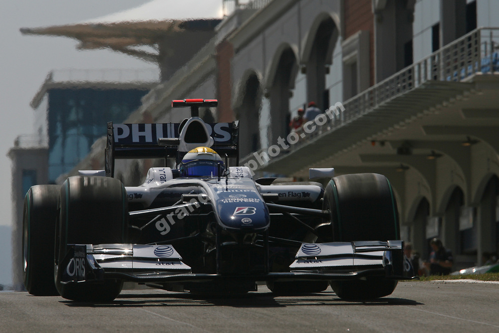 Nico Rosberg (Williams-Toyota) during practice for the 2009 Turkish Grand Prix in istanbul Park. Photo: Grand Prix Photo