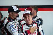 June 13-18, 2017. 24 hours of Le Mans. Kamui kobayashi, Toyota Racing, Toyota TS050 Hybrid, Stéphane Sarrazin, Toyota Racing, Toyota TS050 Hybrid