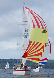 Largs Regatta Week 2017 <br /> <br /> Day 1<br /> <br /> GBR3742T, Radioactivity, Oliver Epsom, CCC, Colvic UFO 27<br /> <br /> Picture Marc Turner