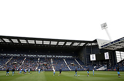 Coventry City players warm up prior to the Cyrille Regis Memorial Trophy match at The Hawthorns, West Bromwich.