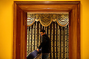 Ash, 18, from North London, is moving a mattress in his new room inside the just entered Winningon Road mansion on Saturday, Oct. 20, 2007 in Hampstead, London, England. The dream residence, 89 Winnington Road, was former Indonesian President Haji Mohamed Suharto's top London mansion and was sold in 1999 for UK£ 9.5M when he was being investigated in his home country in regards to his fortune and extravagant lifestyle. Million Dollar Squatters is a documentary project in the lives of a peculiar group of squatters residing in three multi-million mansions in one of the classiest residential neighbourhoods of London, Hampstead Garden. The squatters' enthusiasm, their constant efforts to look after what has become their home, their ingenuity and adventurous spirit have all inspired me throughout the days and nights spent at their side. Between the fantasy world of exclusive Britain and the reality of squatting in London, I have been a witness to their unique story. While more than 100.000 properties in London still lay empty to this day, squatting provides a valid, and lawful alternative to paying Europe's most expensive rent prices, as well as offering the challenge of an adventurous lifestyle in the capital.