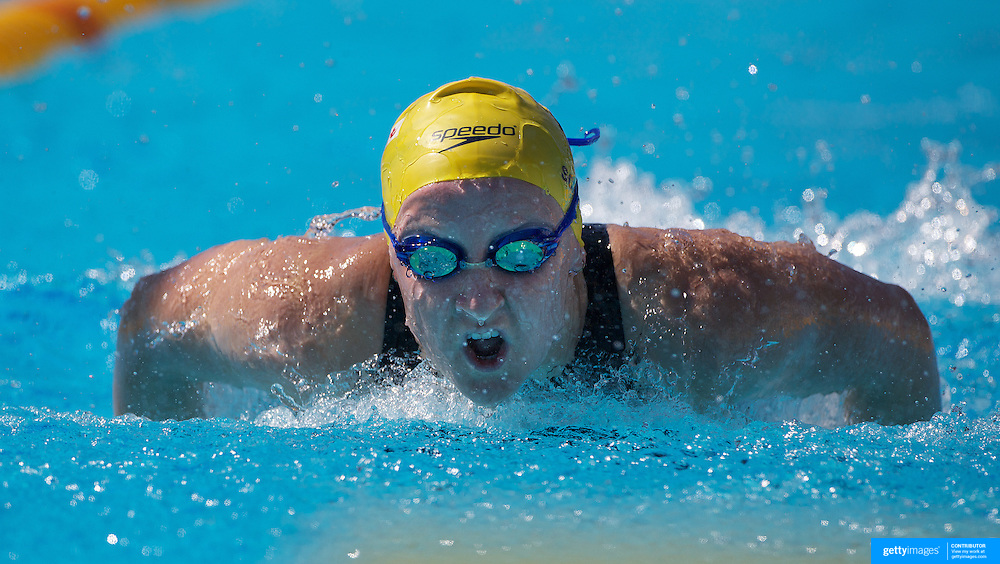 Jessicah Schipper, Australia, in action on the Women's 200m Butterfly event at the World Swimming Championships in Rome on Wednesday, July 29, 2009. Photo Tim Clayton.