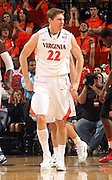 Jan. 27, 2011; Charlottesville, VA, USA; Virginia Cavaliers forward Will Sherrill (22) reacts to a play during the game against the Maryland Terrapins at the John Paul Jones Arena. Maryland won 66-42. Mandatory Credit: Andrew Shurtleff-US PRESSWIRE
