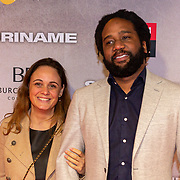 NLD/Amsterdam/20200217-Suriname filmpremiere, Glenn Faria en partner