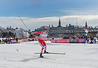 GATINEAU, March 01, 2016: Canada's Alex Harvey competing in the Men's 1.7km Sprint qualifier during the Ski Tour Canada 2016 FIS Cross-Country World Cup at the Jacques Cartier Park in Gatineau, Quebec, Canada.