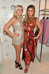 Left to right, Singer-songwriter LARISSA EDDIE and LAUREN HUTTON at the launch for the collaboration of Joel Swimwear for Collier Bristow held at Collier Bristow, 61 King's Road, Chelsea, London on 11th August 2016.