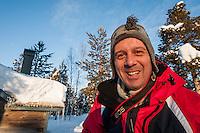 Northern Lights photographer Peter Rosen who runs PhotoAdventures in Lapland.