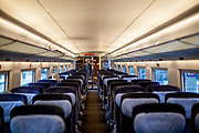 Travelling in an empty German ICE highspeed train direction Vienna after the corona virus outbreak changed our public lifes.