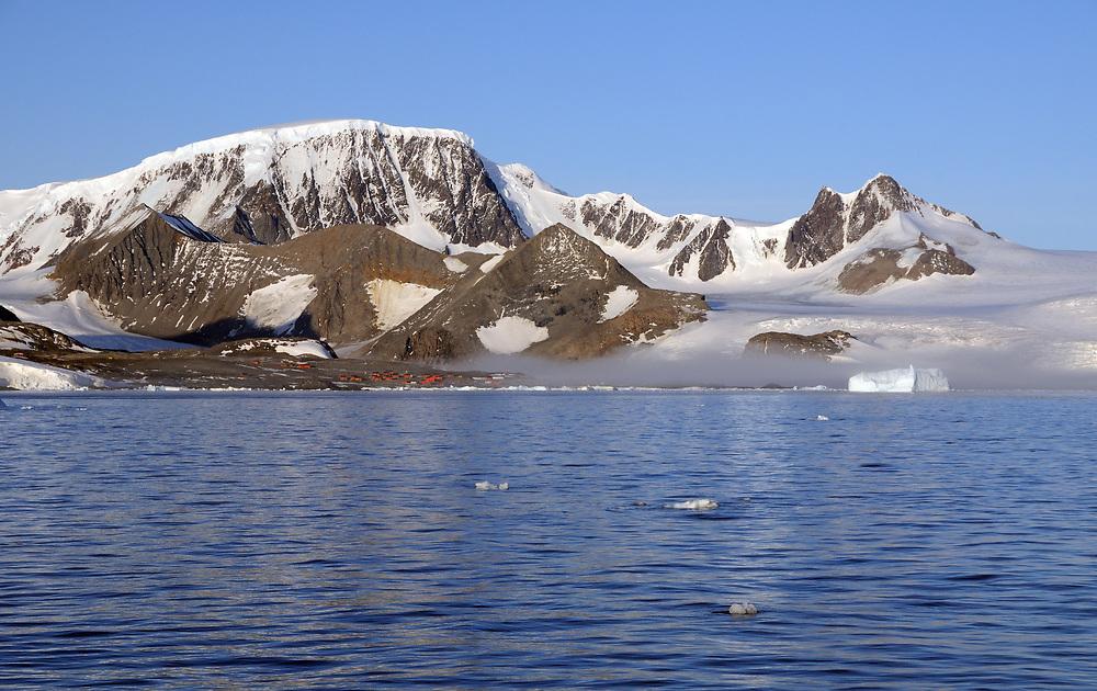 The Argentinian Esperanza base in Hope Bay.  Hope Bay, Antarctic Peninsula, Antarctica. 02Mar16
