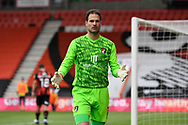Asmir Begovic (1) of AFC Bournemouth during the EFL Sky Bet Championship match between Bournemouth and Stoke City at the Vitality Stadium, Bournemouth, England on 8 May 2021.