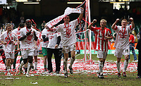 Photo: Rich Eaton.<br /> <br /> Grimsby Town v Cheltenham Town. Coca Cola League 2. Play off Final. 28/05/2006. Cheltenham players run to the crowd and celebrate promotion to league 1