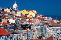 View from the Miradouro de Santa Luzia in the Alfama, Lisbon, Portugal