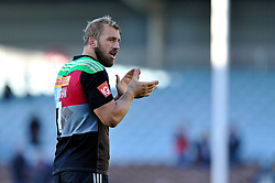 Chris Robshaw of Harlequins acknowledges the crowd after the match - Photo mandatory by-line: Patrick Khachfe/JMP - Mobile: 07966 386802 04/10/2014 - SPORT - RUGBY UNION - London - The Twickenham Stoop - Harlequins v London Welsh - Aviva Premiership