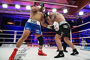Boxen: Universum Fightnight, Schwergewicht,  Hamburg, 14.11.2020<br /> Jose Angel Larduet (CUB) - Ferenc urban (HUN)<br /> © Torsten Helmke