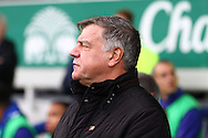 Sunderland Manager Sam Allardyce  looks on prior to kick off. Barclays Premier League match, Everton v Sunderland at Goodison Park in Liverpool on Sunday 1st November 2015.<br /> pic by Chris Stading, Andrew Orchard sports photography.
