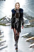 Anna Ewers (WOMEN) walks the runway wearing Rodarte Fall 2015 during Mercedes-Benz Fashion Week in New York on February 17, 2015