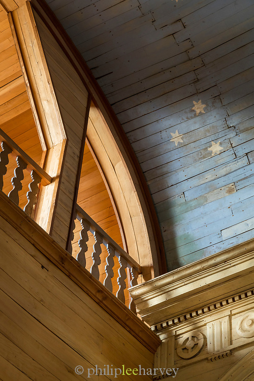 Stars on ceiling in Chonchi Church on Chiloe Island, Chile