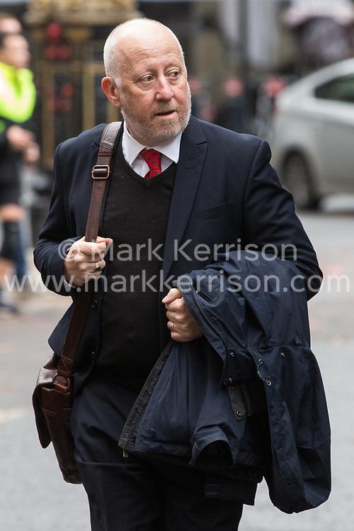 London, UK. 16 November, 2019. Andy McDonald, Shadow Transport Secretary, arrives at Labour's Clause V meeting. Credit: Mark Kerrison/Alamy Live News