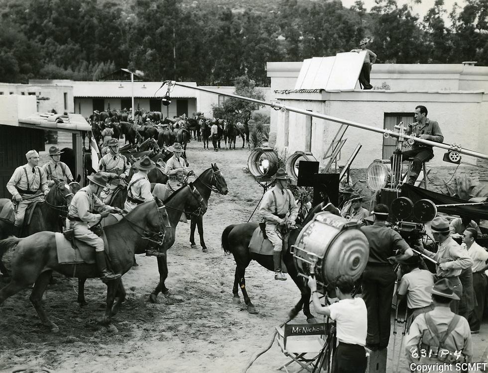 1938 Filming Army Girl at Republic Studios