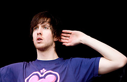 Calvin Harris at the main stage. Rockness, Saturday 7th June 2008..Pic © Michael Schofield. All Rights Reserved.