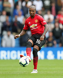 Manchester United's Ashley Young during the Premier League match at the AMEX Stadium, Brighton.