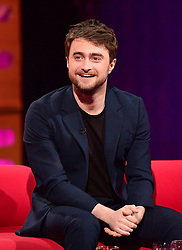 Daniel Radcliffe during filming of The Graham Norton Show at the London Studios in London, to be aired on BBC1 on Friday evening.