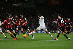 Memphis Depay of Manchester United full stretch on the attack - Mandatory by-line: Jason Brown/JMP - Mobile 07966 386802 12/12/2015 - SPORT - FOOTBALL - Bournemouth, Vitality Stadium - AFC Bournemouth v Manchester United - Barclays Premier League