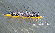 Chiswick, London, Great Britain.<br /> Kings School, ChesterJ15 Champ eight, competing in the 2016 Schools Head of the River Race, Reverse Championship Course Mortlake to Putney. River Thames.<br /> <br /> Thursday  17/03/2016<br /> <br /> [Mandatory Credit: Peter SPURRIER;Intersport images]