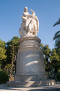 Statue of Lord Byron (who died in Greece) by  Chapu and Falguiere National Gardens, Athens, Greece