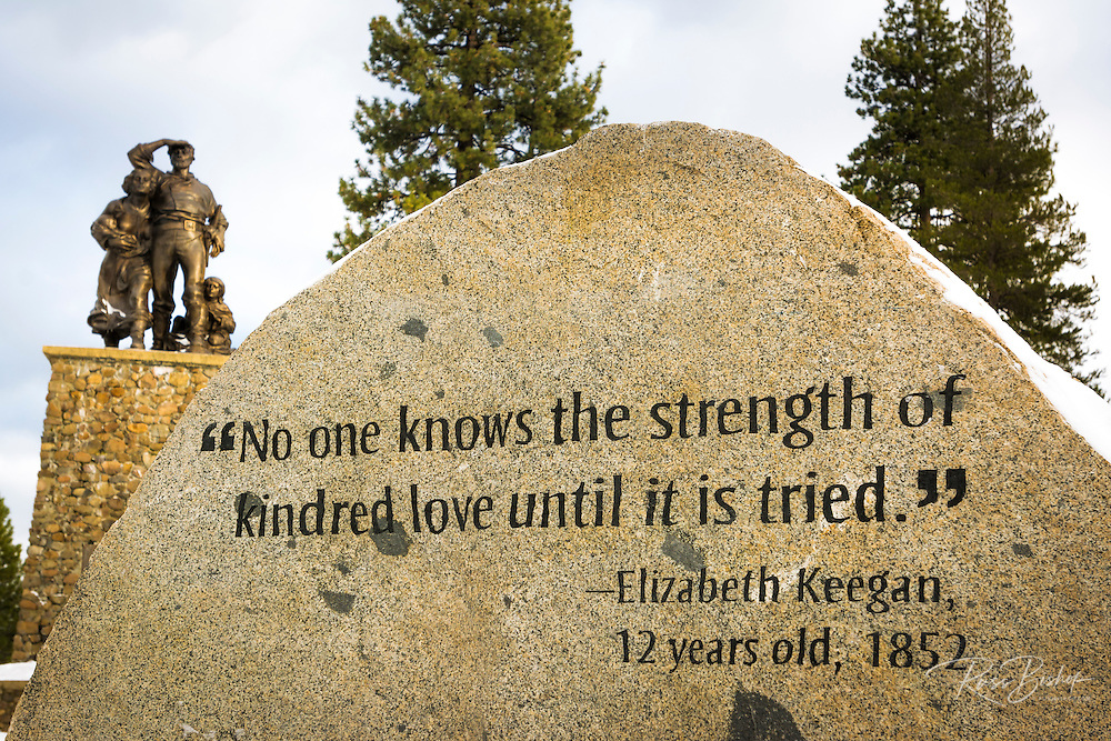 Monument to the Donner Party, Donner Memorial State Park, Truckee, California