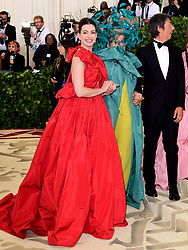 Anne Hathaway (left) and Frances McDormand attending the Metropolitan Museum of Art Costume Institute Benefit Gala 2018 in New York, USA.