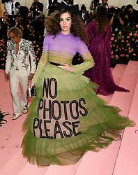 Hailee Steinfeld attending the Metropolitan Museum of Art Costume Institute Benefit Gala 2019 in New York, USA.