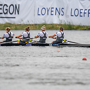Davina Waddy , Eve Macfarlane , Kelsi Walters , Phoebe Spoors New Zealand elite  Womens Four<br /> <br /> Compete in the A Finals at FISA World Rowing Cup III on Sunday 14 July 2019 at the Willem Alexander Baan,  Zevenhuizen, Rotterdam, Netherlands. © Copyright photo Steve McArthur / www.photosport.nz