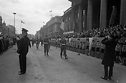 17/3/1966<br /> 3/17/1966<br /> 17 March 1966<br /> <br /> Colour Party marching past the Review Platform at the St. Patrick's Day Parade