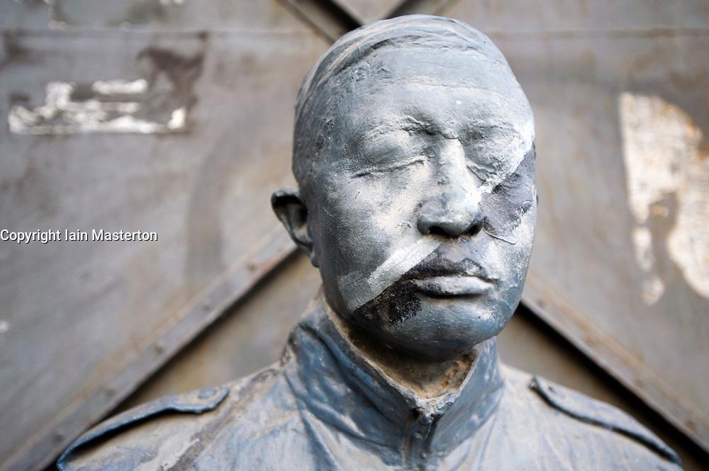 Modern art sculpture of man at the 798 Art District at Dashanzi in Beijing China