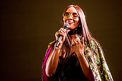 May 26, 2018 - Naomi Campbell wearing Dolce & Gabbana  onstage during Afrorepublik festival announcing WIZKID at The O2 Arena, London, United Kingdom on May 26, 2018 (Credit Image: © RMV via ZUMA Press)