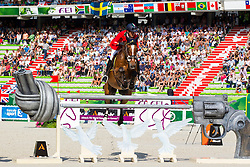 Luca Maria Moneta, (ITA), Neptune Brecourt - World Champions, - Second Round Team Competition - Alltech FEI World Equestrian Games™ 2014 - Normandy, France.<br /> © Hippo Foto Team - Leanjo De Koster<br /> 25/06/14