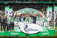 24/05/15 SCOTTISH PREMIERSHIP<br /> CELTIC v INVERNESS CT<br /> CELTIC PARK - GLASGOW<br /> Celtic celebrate as they lift the Scottish Premiership trophy